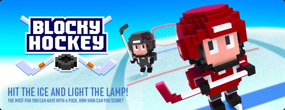 Blocky Hockey – Arcade Ice Runner