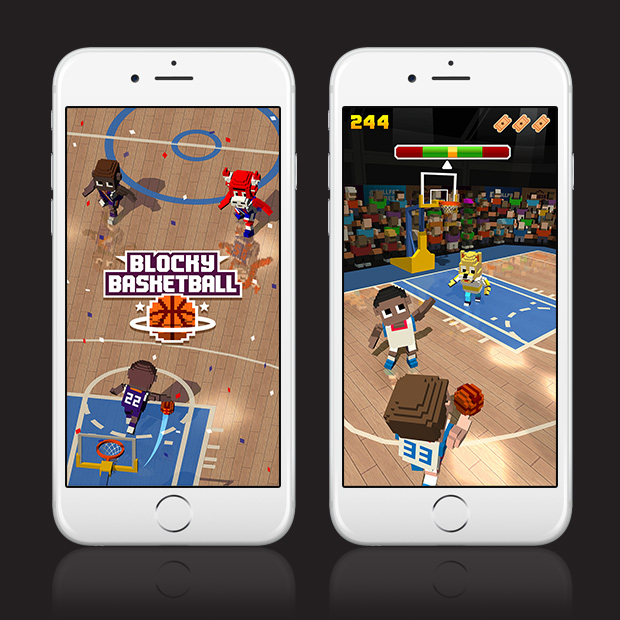 Blocky Basketball – Endless Arcade Dunker