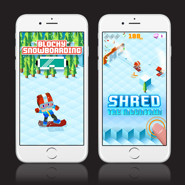 Blocky Snowboarding – Endless Arcade Runner